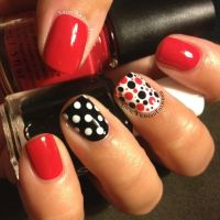 Red And Black Nail Designs | www.imgkid.com - The Image ...