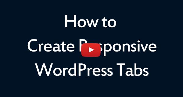 WordPress Tabs Plugin WordPress Plugin