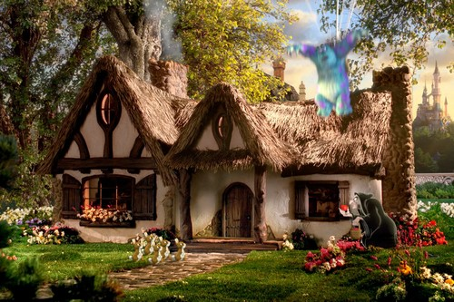 15 real life inspirations behind disney sites architectures for Snow white cottages los angeles