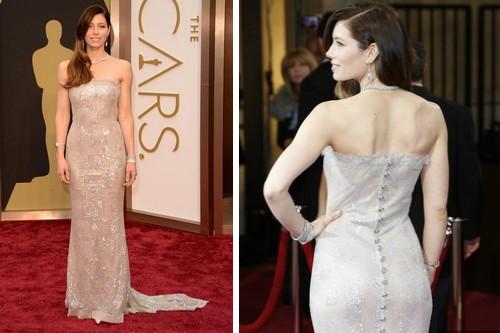 Jessica Biel 2014 oscar dress