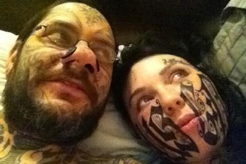 Face name tattoo