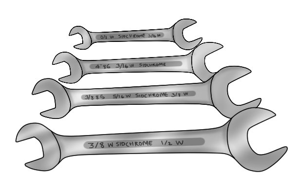 What spanner sizes are available?
