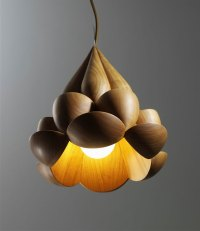 Wood - Furniture.biz | Photos | Flower Lamps by Laszlo Tompa