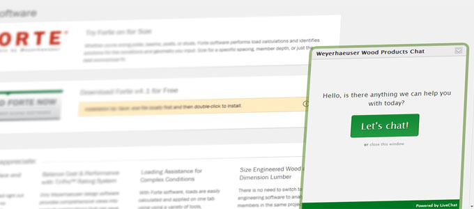 Let's Chat! Weyerhaeuser Software Launches Live Chat