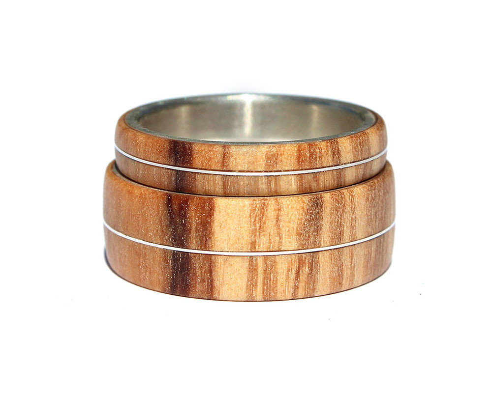 Supreme Silver Inlay Wood Wedding Rings Sets Metal Wood Ring Archives Wooden Rings Wooden Wedding Rings Wooden Wedding Rings Sets Olivewood wedding rings Wooden Wedding Rings