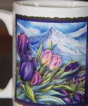 mug puple tulips side 1