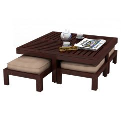 Buy Borstein Coffee Table (Teak Finish) Online in India