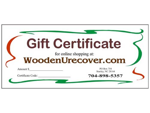 WoodenUrecover Gift Certificates