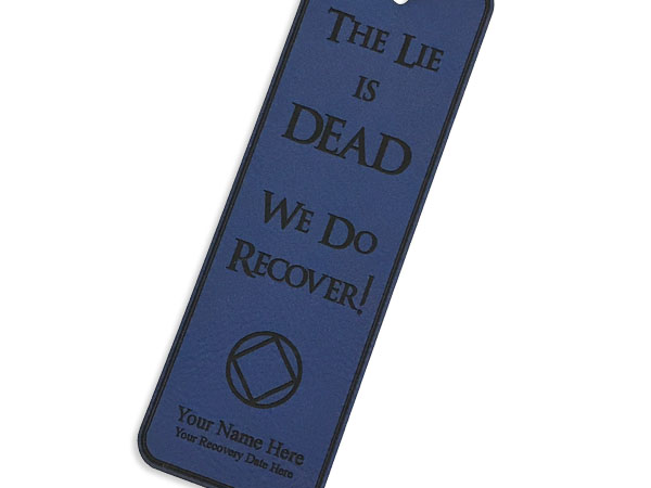 Personalized The Lie Is Dead Na Bookmark Recovery Book