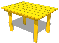 Plans Patio Table PDF Woodworking