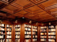 Library Wood Coffered Cherry Ceiling * WoodGrid Coffered ...