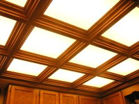 Wood Coffered Ceiling with Up Lighting * WoodGrid ...