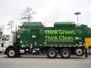 Waste Management Truck in The Woodlands