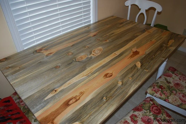 Antique Rustic Pine Table Top