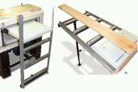 Table Saw Roller Extension Stand - Table Design Ideas