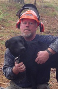 Steve and his faithful companion have 300 acres with a virtually endless supply of timber to turn into log cabin siding. But they often choose to buy lumber to run through their Woodmaster to make siding.