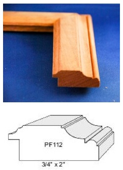 The photo at the top is one of the Bardwell's popular picture frame patterns, from their website. The drawing at the bottom is from the Woodmaster Molding Knife pattern book. Click here to see the pattern book.