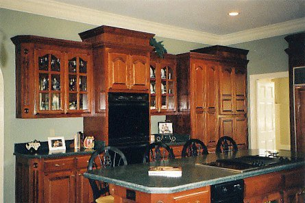 Charlie does beautiful work. This dream kitchen is just one example of how Charlie has made a name for himself. He tells us he never had training; he learned by doing.