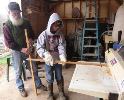Bob's uncle helped Boy Scouts earn their Woodworking Merit Badges.