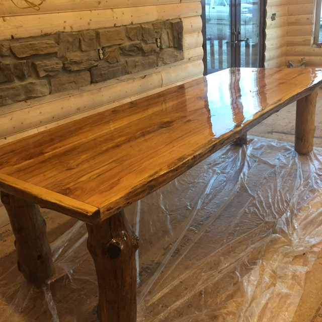 Beautiful workmanship and an extraordinary surface on this handmade table.
