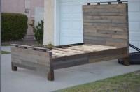 Handmade Rustic Queen Pallet Bed | Wood Pallet Furniture