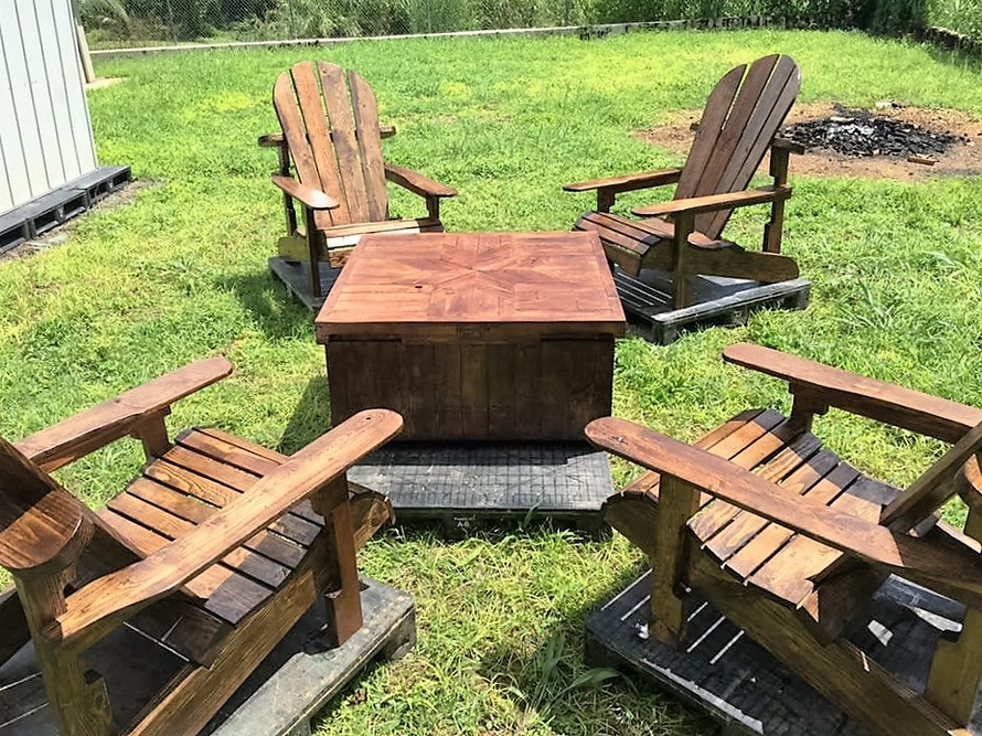 Patio Furniture Set Made With Wooden Pallets Wood Pallet