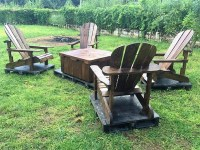 Patio Furniture Set Made with Wooden Pallets | Wood Pallet ...