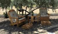 Wood Pallet Patio Chairs Set | Wood Pallet Furniture