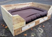 Cute Dog Bed Out of Recycled Pallets | Wood Pallet Furniture