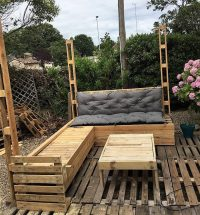 DIY Wood Pallets Patio Gazebo Deck with Furniture Plan ...