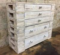 Recycled Wood Pallets Dresser Table Plan | Wood Pallet ...