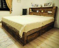 Pallet Big Bed with Storage Drawers | Wood Pallet Furniture