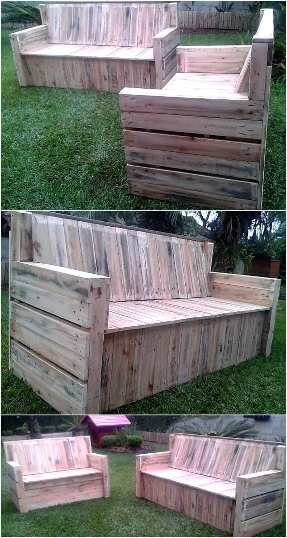 Graceful Pallets Garden Couch Set Idea Ideas Wood Pallet Reusing Wood Pallet Furniture Horizontal Pallet Vegetable Garden Horizontal Wooden Pallet Garden garden Horizontal Pallet Garden