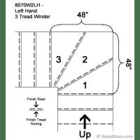 Winder Stair Treads - Winding Treads - LJ-8070W 2 or 3 ...