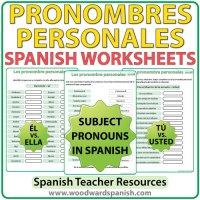 Spanish Subject Pronouns  Worksheets | Woodward Spanish