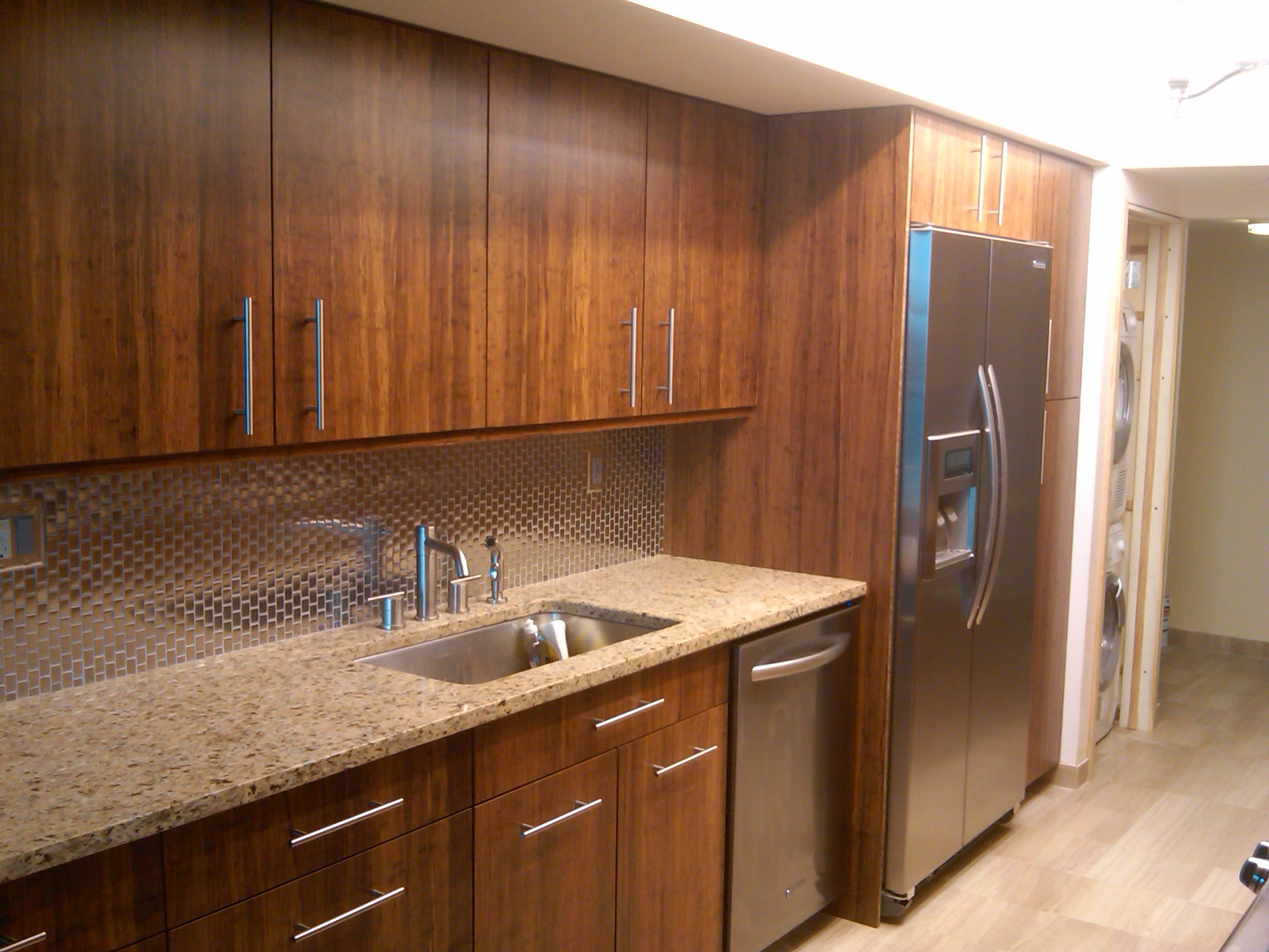 bamboo kitchen cabinets Fossilized carbonized bamboo kitchen View Larger Higher Quality Image