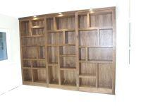 Walnut Geometric Bookcase