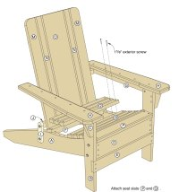 Folding Adirondack Chair Plans - Woodwork City Free ...
