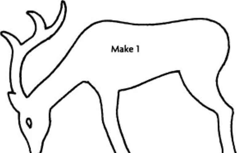 Reindeer Cut Out Template   Reindeer Cut Out Template Ivoiregion