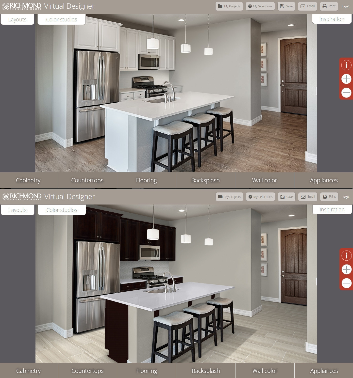 arizona home builder launches virtual kitchen design tool virtual kitchen designer A virtual design tool that realistically presents flooring cabinetry countertops backsplashes and other home design elements in place was launched by