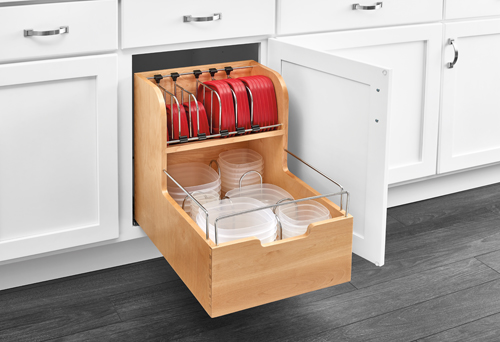 Base Cabinet Pullout Food Storage Organizer Woodworking
