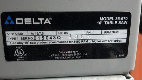 Delta 670 Table Saw Wiring Diagram Wiring Schematic Diagram