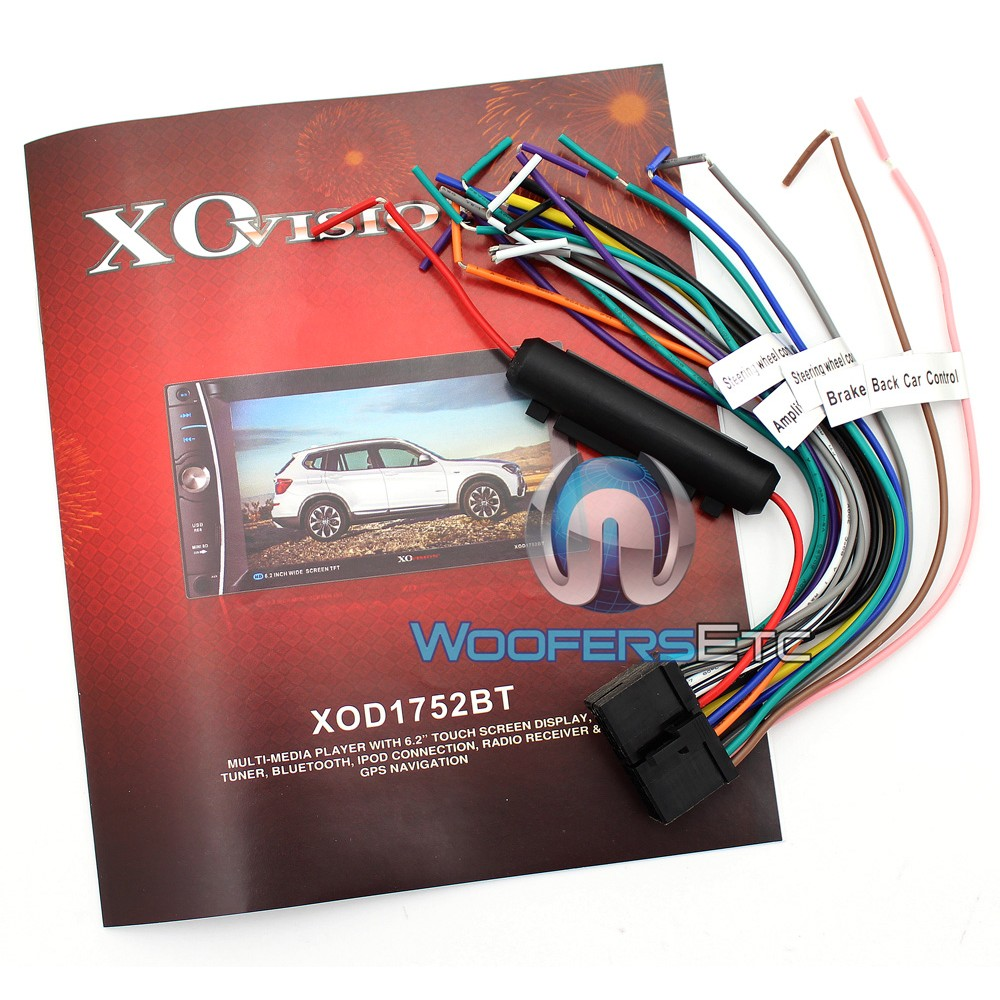 xo vision wiring harness red vision