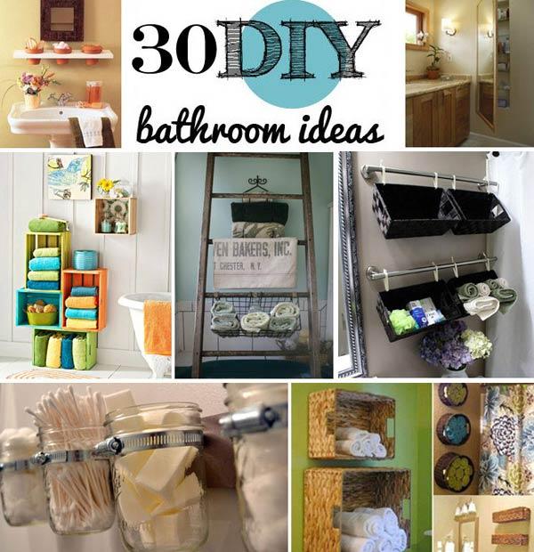 30 Brilliant DIY Bathroom Storage Ideas - Amazing DIY, Interior - storage ideas for small bathrooms