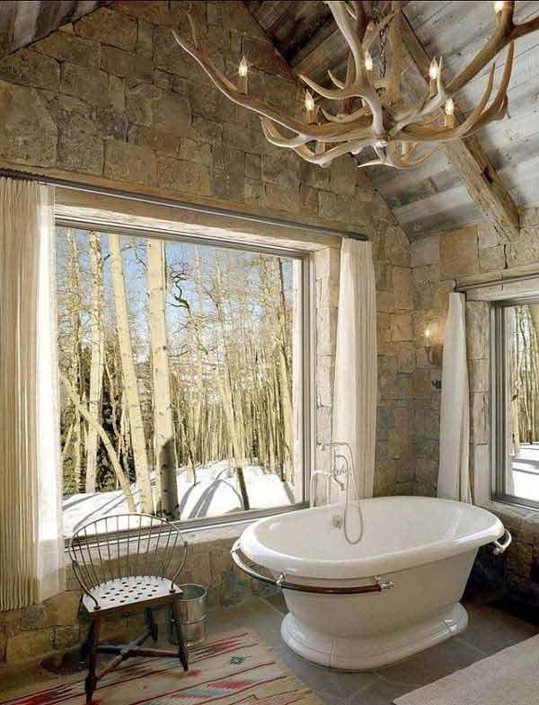 30 Inspiring Rustic Bathroom Ideas for Cozy Home - Amazing DIY - small rustic bathroom ideas