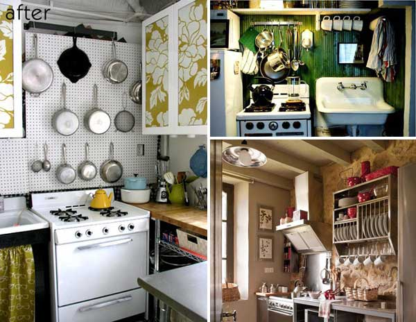 38 Cool Space-Saving Small Kitchen Design Ideas - Amazing DIY - kitchen ideas for small kitchen