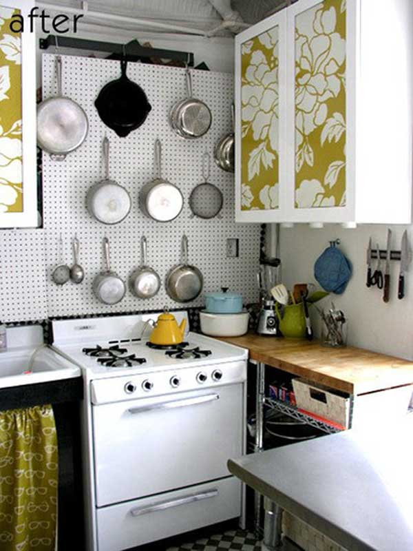 38 Cool Space-Saving Small Kitchen Design Ideas - Amazing DIY - small kitchen design ideas photo gallery