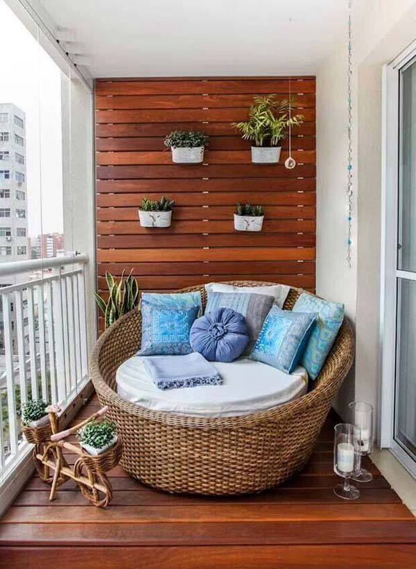 26 Tiny Furniture Ideas for Your Small Balcony - Amazing DIY