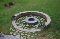 Build Round Firepit Area for Summer Nights Relaxing ...