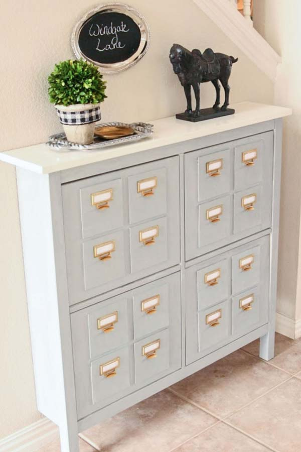 Cheap Ways to Make IKEA Stuff from Plain to Expensive-Looking - library card